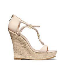 $650 Michael Kors Collection Sherie Espadrille Beige Sandal Wedge 39 Slingback