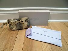 Jimmy Choo Handbag Snake Skin Mini Wristlet Handbag w/Box & Dust Bag NEW