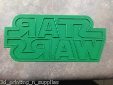STAR WARS Logo Fondant and Cookie Cutter - 3D Printed Plastic