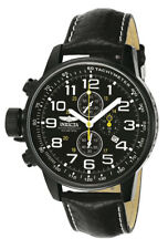 "Invicta Men's 3332 ""Force"" Chronograph Stainless Steel and Leather Lefty Watch"