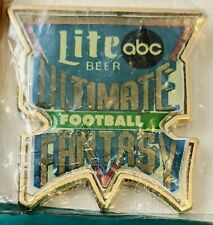 Ultimate Fantasy Football- Lite Beer- Abc Lapel Pin. New In Package.