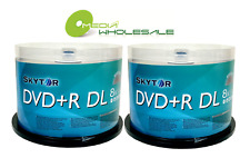 100 SKYTOR 8X Blank DVD+R DL Dual Double Layer 8.5GB Logo Disc/240mns