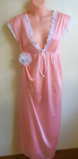 Vintage Nylon Nightgown Pink Sheath