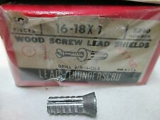 "16-18 X 1 WOOD SCREW LEAD SHIELDS 96 PCS DRILL HOLE 3/8"" 3240 (LL2023)"