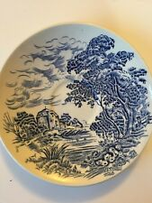Vintage China Saucers Enoch Wedgewood Tuns Tall Ltd Countryside England Blue