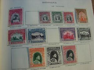 Bahawalpur -George VI MINT STAMPS FROM SG Printed Album