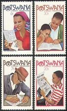 Botswana 1981 programma di alfabetizzazione/Letteratura/Libri/Lettera/Giornale Set 4 V (n14708)