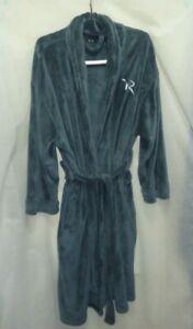 Rocawear Men's Shawl Collar Green Bathrobe Polyester Fleece Soft Thick ONE SIZE