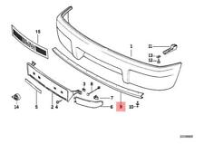 Genuine BMW 8 E31 M SPORT FRONT BUMPER LOWER RUBBER SPOILER 2252697