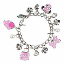 Disney Store Princess Minnie Mouse Charm Bracelet Icon Bow Handbag Shoe Heart