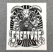 CREATURE Ceremoney Skateboard Sticker 4.75in si