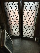 Sg 1132 2 Available Price To Each Antique Leaded Glass Diamond Windows/Door