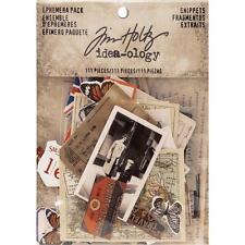 Tim Holtz ~ EPHEMERA PACK ~ Snippets ~ Idea-ology