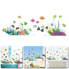 Underwater Sea Ocean World Fishes Art DIY Wall Sticker Bath kids Room Decor