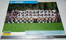 CLIPPING POSTER FOOTBALL 1992-1993 AJ AUXERRE AJA ABBE-DESCHAMPS