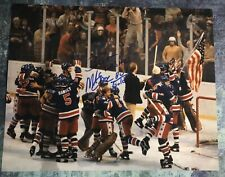 GFA 1980 Miracle on Ice Captain MIKE ERUZIONE Signed 11x14 Photo M4 COA