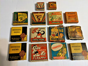 Lot -15 CLASSIC Disney -Castle Films Western 16mm in  - MICKEY ABBOTT ETC.