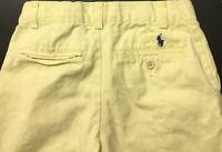 Polo By Ralph Lauren Boys Khaki Casual Yellow Shorts w/ Back Pony Sz 6