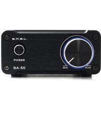 SMSL SA50 50Wx2 TDA7492 Class D Amplifier + Power Adapter (Black) Black