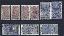 1948 1964-1975 India Revenue Collection of 12, Used - Share Transfer, Insurance