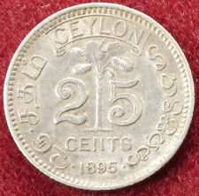 Ceylon 25 Cents 1895 (B2704)