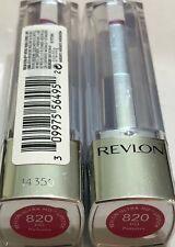 (2) Revlon Ultra HD Lipstick, 820 hd Petunia