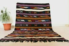 "Authentic Moroccan Rug Carpet 3'2""x5' ft Vintage Handmade Berber Tribal Wool Rug"