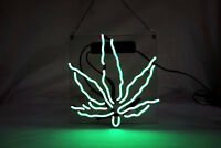 "10""x10""High Life Leaf Neon Sign Light Visual Artwork Party Room Wall Decor Gift"