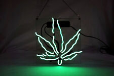 High Life Leaf Room Wall Display Handcraft Visual Artwork Neon Sign Light