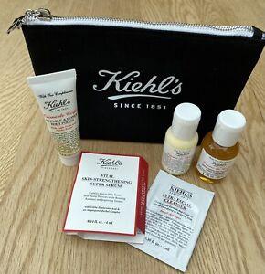 Diverse KIEHL'S Produkte mit Kosmetiktasche