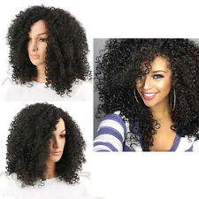 """Afro Kinky Curly Synthetic Hair for Black Women 22"""" Female Wigs (Color: Black)"""