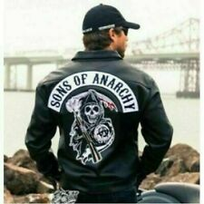 S.o.a sons of anarchy HOMME Motard Club en Cuir Veste Moto Gilet-SOA Pak