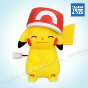 ~ POKEMON - white knob windup walker - Takara Tomy gashapon - wind up PIKACHU (e