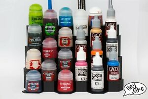 Paint stands for Citadel and Vallejo, Scale 75, Army Painter etc dropper bottles