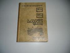 Ersatzteilliste Lanz Bulldog Diesel Schlepper 08/1955