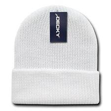 White Watch Beanie Cap Hat Ski GI Military Warm Winter Cuff Knit Hats Beanies