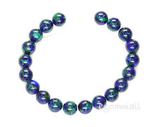 "20 Azurite Malachite Round Beads 8"" 10mm #57016"
