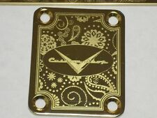 Paisley Engraved Guitar Neck Plate Custom Shop 7 G