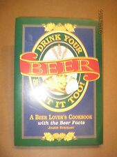 VINTAGE 1995 BEER LOVER'S COOKBOOK & FACTS BEERS HOPS ALE COOKERY RECIPES NICE