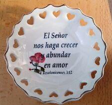 Cuadro de cerámica con versículo bíblico