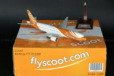 Fly Scoot Boeing 777-200 Reg:9V-OTD Maju la JC Wings 1:200 Diecast Models XX2985