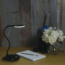 LYYT Compact LED Desk Table Reading Lamp Touch Sensor Dimmable Black Plastic