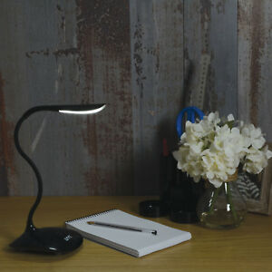 USB LED low power goose neck type desk lamp electronics jewellery repair black