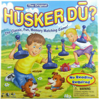 New In Sealed Box HUSKER DU? Match The Pictures MEMORY Matching Board Game