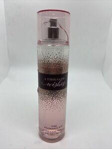 Bath and Body Works A THOUSAND WISHES Fine Fragrance Mist 8 oz 75% Full