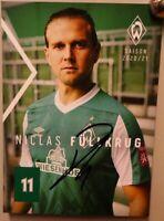 SV Werder Bremen + Original Autogrammkarte 2020/2021 + Niclas Füllkrug AK2021037