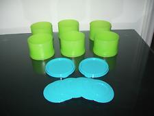 Tupperware Ice Cream Sandwich Maker Forms Green Blue Rare New