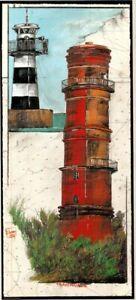"""Kunstdruck """"Leuchttürme Travemünde"""" - von OLE WEST - (203)"""