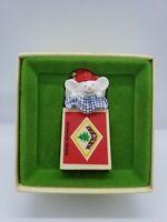 Hallmark Tree Trimmer Rare Mouse Matchbox Christmas Decoration Collectors 1979