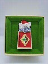 Hallmark Tree Trimmer Rare Mouse Matchbox Christmas Decoration Collectors 1979